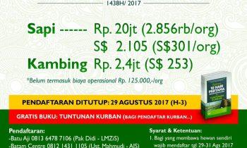 Informasi Qurban 1438/2017 Yayasan Islam AlKahfi Batam